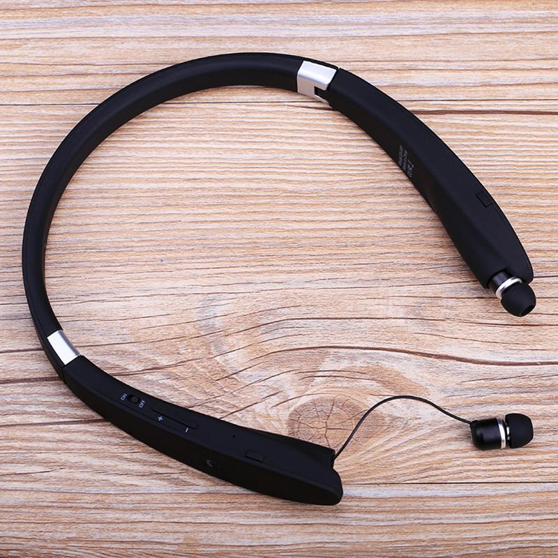 Nouveau casque Bluetooth avec sangle de cou pliant Portable haute qualité sans fil Subwoofer dans l'oreille Sports écouteurs pour téléphone