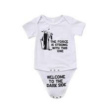 Star War Newborn Kid Baby Boy Girl Funny Jumpsuit Bodysuit Clothes Outfit Jumpsuit Bodysuit Cartoon Short Sleeve Cotton Clothes