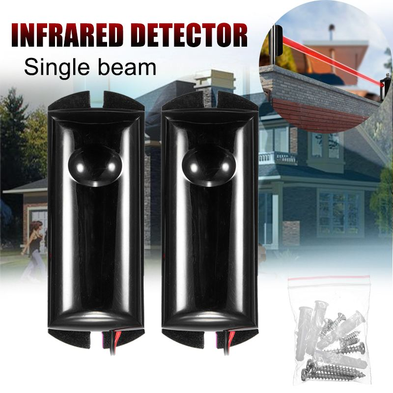 Aktive Photoelektrische Single Infrarot Strahl Sensor Barriere Alarm Detektor für Tor Tür Fenster einbrecher alarm system