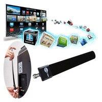 Мини-прозрачная ТВ-клавиша HD tv 100 + бесплатная HD ТВ цифровая комнатная антенна 1080 p Канатный кабель