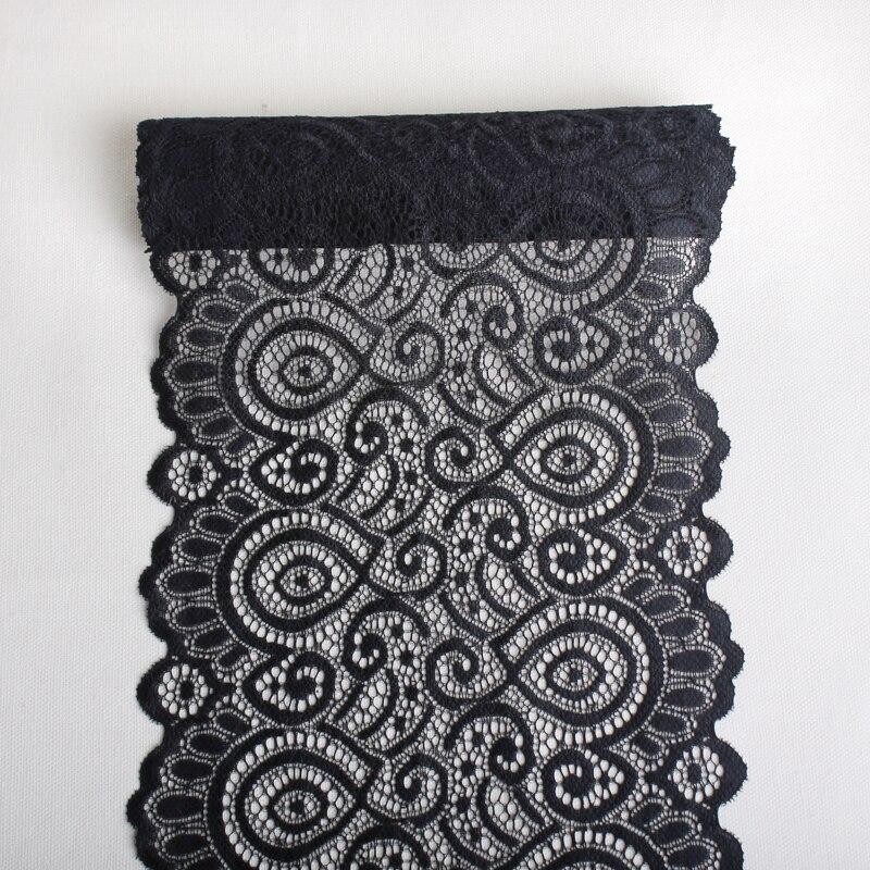 3Yards 19cm black Elastic mesh Lace Trims underwear Women's Bra Stretch lace Fabrics Decorative Clothing  Sewing Accessories DIY