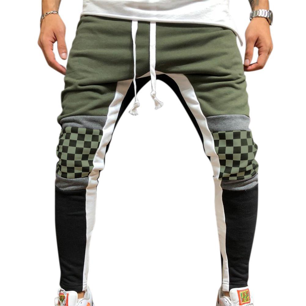 MISSKY Men Jogger Stadium Gymnasium Runway Colorful Striped Runway Casual Pants