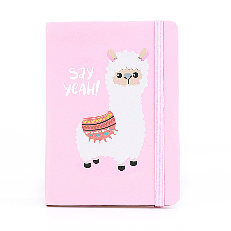 【6.1Gifts For Children】A7 Light Blue Lovely Cartoon Baby Alpaca Notebook Daily Notepad Cute Stationery Office School Supplies