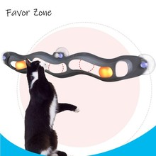 Funny Cat Toy Intelligence Cats Tunnel Suction Cup Track Ball Toys For Kitten scratcher Balls Interactive Supplies