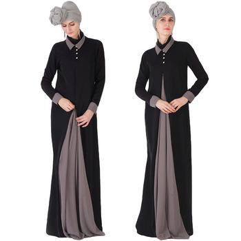 Ramadan Women Abaya Muslim Jilbab Kaftan Islamic Maxi Party Dress Zipper Arab Robe Ethnic Dubai Dresses Loose Gown Middle East