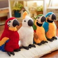 Realistic Macaw Toy Plush Stuffed Animal Plush Kawaii Parrot For Boys Girls Dolls And Stuffed Toys