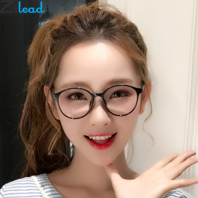 Zilead Retro Round Anti Blue Light Computer Eyewear Frame For Women&Men HD Optical Spectacle Glasses Eyeglasses Unisex