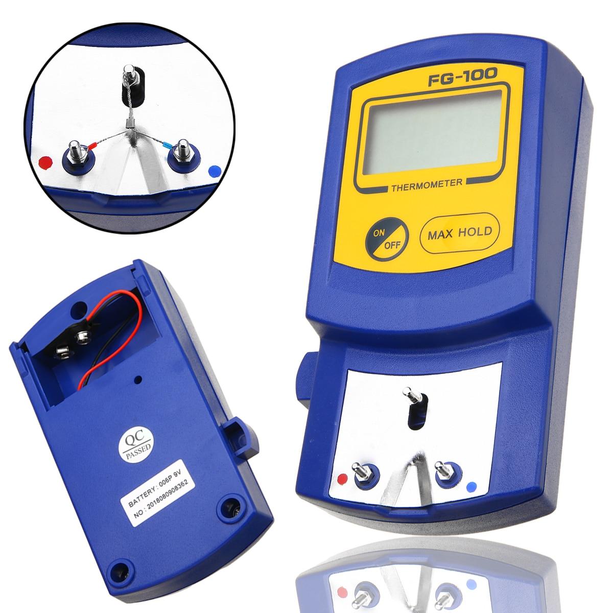 FG-100 Цифровой паяльник наконечник термометр Температурный тестер ЖК-дисплей 0-700 градусов с 5 шт. бессвинцовый Senor набор