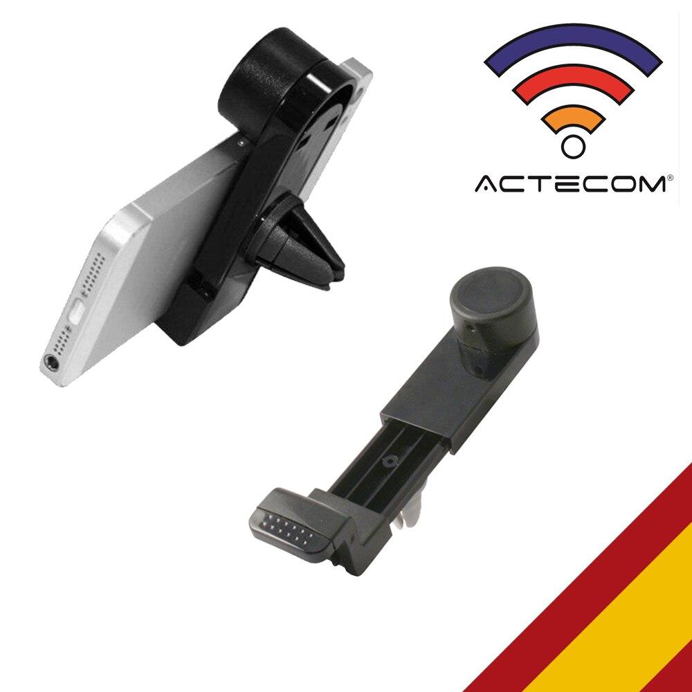 ACTECOM Soporte Universal De Rejilla Ventilación Coche Para Smartphone / Móvil Base Ventilacion Giratorio Movil Telefono