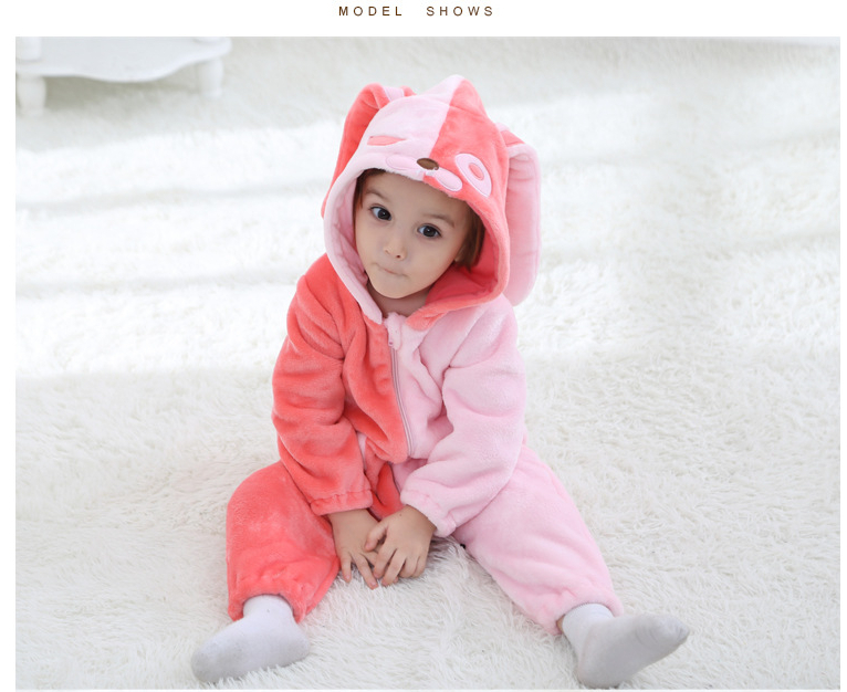 Spring Kids Sleepwear Children Flannel Jumpsuits Pyjamas Child Cartoon Animal Cosplay Nightwear Angela Costume For Girls