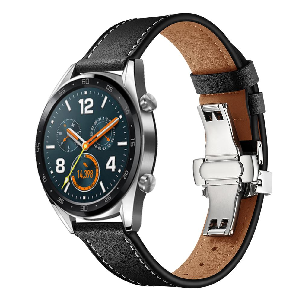 Image 5 - Smart Sports Watch With Strap Leather Watch Strap Watch GT Butterfly Buckle Leather Watch Band 22MM Classic And Stylish-in Smart Accessories from Consumer Electronics
