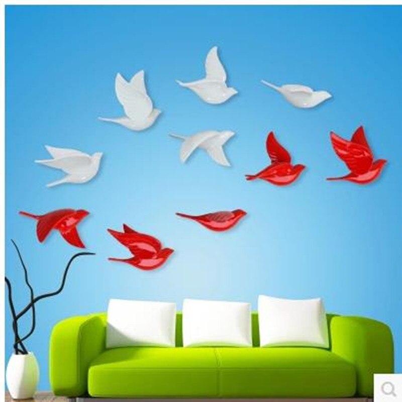 Украшение на стену в европейском стиле птица украшение дома голубь настенный фон для гостиной настенные украшения креативный Th