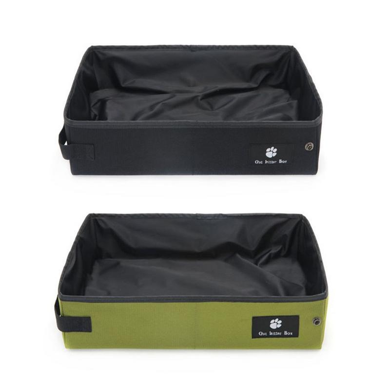 Pet Cat Litter Box Folding Pet Litter Pan Waterproof Outdoor Foldable Cat Litter Box Portable Travel Toilet Seat