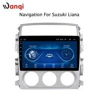 9 дюймов Android 8,1 полный сенсорный экран Автомобильная Мультимедийная система для Suzuki Liana 2007 2013 Автомобильный GPS Радио Навигация