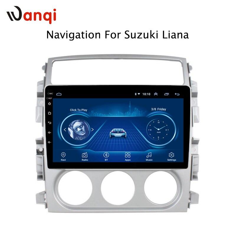 Android 8.1 plein écran tactile 2.5D 9 pouces pour Suzuki LIANA 2007 2008 2009 2010 2011 2012 2013 voiture gps radio navigation