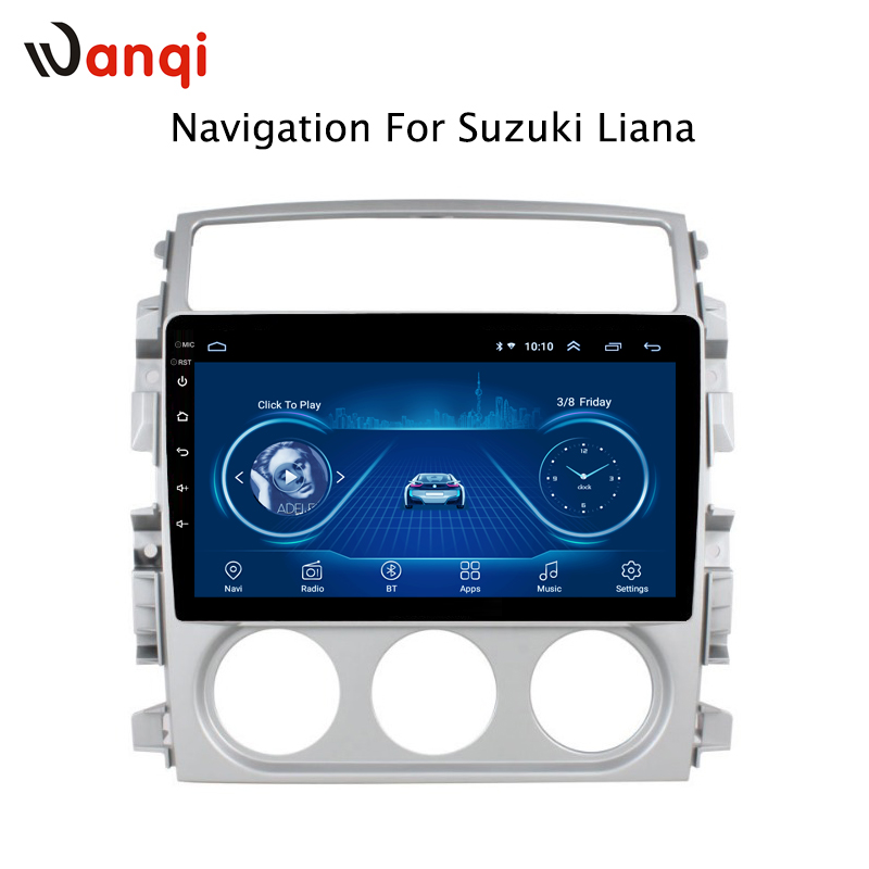Android 8.1 tela de toque completa 2.5d 9 Polegada para suzuki liana 2007 2008 2009 2010 2011 2012 2013 navegação rádio gps do carro