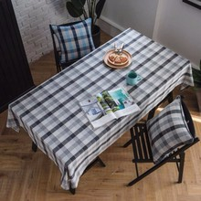 New Tablecloth Modern Minimalist Plaid Table Gray Cover Towel Cloth Home Fabric Rectangular For