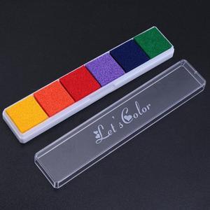 6 видов цветов отпечаток пальца Inkpad поделки своими руками и Скрапбукинг карты Красочные Чернила Pad штампы декоративные поделки своими руками