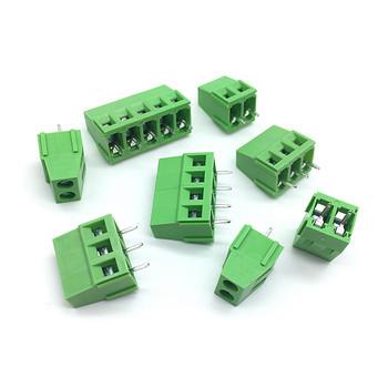 10 sztuk 5mm 2Pin 3 piny zacisk śrubowy PCB złącza blokowe 300V 10A DG128 KF128 KF128-2P KF128-3P boisko 5 0MM 0 2 cal tanie i dobre opinie Splice KF128-2P KF128-3P