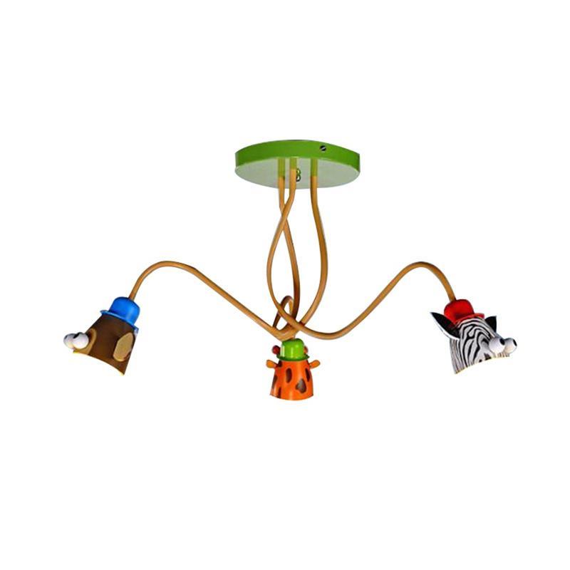 Ceiling Chandelier For Children Unisex Ideal For Lighting The Motif Giraffe Monkey And ZebraCeiling Chandelier For Children Unisex Ideal For Lighting The Motif Giraffe Monkey And Zebra