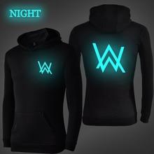 лучшая цена DJ Alan Walker Luminous Hoodies Men Women Fashion Casual Sweatshirt Autumn Winter Streetwear Coat Pullover Sweatshirt Plus Size
