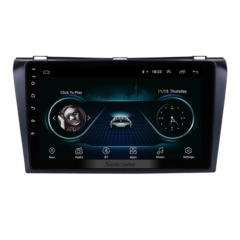 Seicane Quad-core Android 8.1 <font><b>2Din</b></font> 9 inch Car DVD Multimedia Player For <font><b>Mazda</b></font> <font><b>3</b></font> 2004 2005 2006 <font><b>2007</b></font> 2008 2009 1024*600 GPS Wifi image