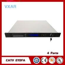 CATV EDFA 1550nm 4 выхода волоконно-оптический усилитель catv 4 порта 18~ 24dBm