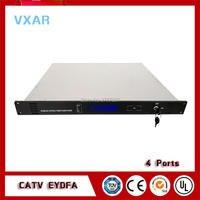 CATV EDFA 1550nm 4 output fiber optical amplifier catv 4PORTS 18~24dBm