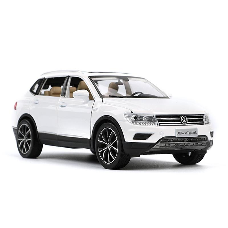 Volkswagen Tiguan SUV 1:32 Diecast Model Car Toy Collection Sound/&Light White