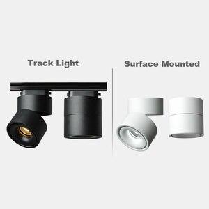 Image 5 - GD 4pcs LED Track Light 5W 7W 10W 12W LED Recessed Downlight AC85 265V Open Mounted Downlight Track Rail Light Adjustable Spot