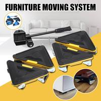 Stable Furniture Moving System With Lifter Tool And 3Wheels Furniture Moving Heavy Stuffs Moving Tool Home Utilities Accessories