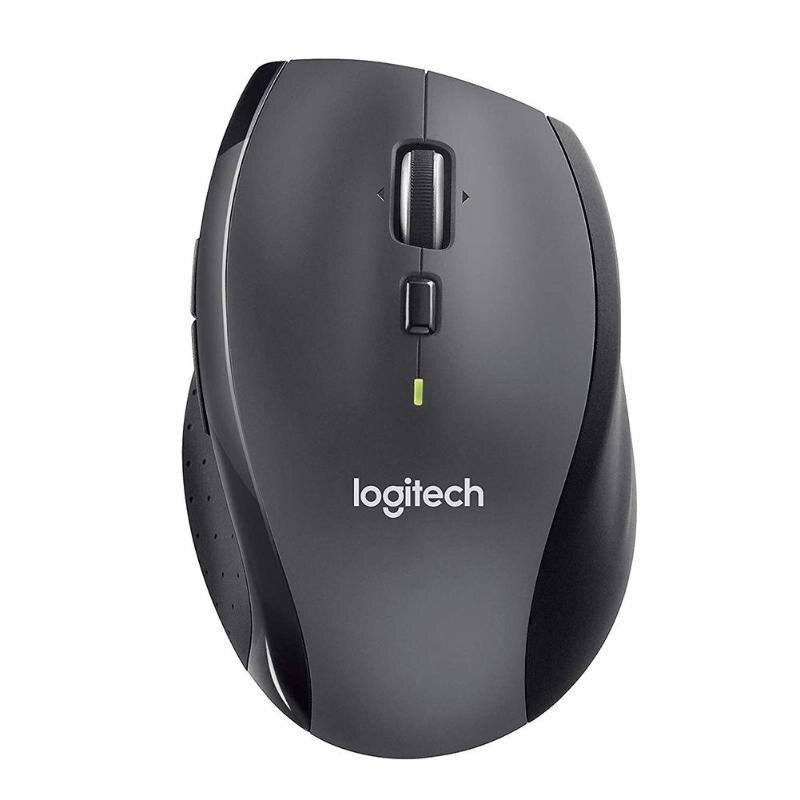 Souris sans fil Logitech M705 2.4 GHz 3 ans d'autonomie récepteur USB souris 1000fpi 8 boutons souris d'ordinateur gris