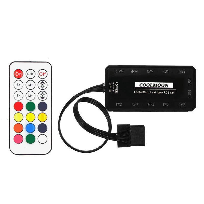 COOLMOON Remote RGB LED Light Controller