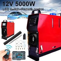 12V 5000W Car Air Diesel Heater All in One Machine Single Hole LCD Monitor Heater Diesel Parking Warmer For Car Truck Bus Boats