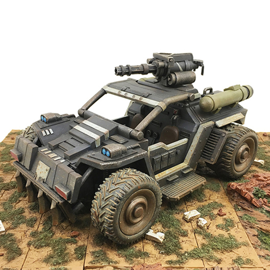 1/27 Movable Mecha Figure Wild Rhinoceros Armored Assault Vehicle DIY Collectable Handwork Military Vehicle Model Present Gift