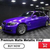 Матовый металлический виниловый пленочный Премиум матовая металлическая обертка s для стайлинга автомобиля пузырьковый фиолетовый 1,52*20 м