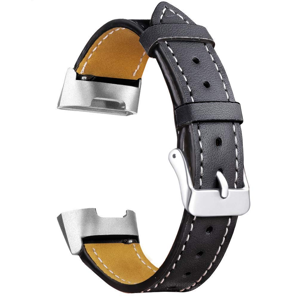 Leather Bands Compatible Fitbit Charge 3 & Charge 3 SE, Classic Genuine Leather Strap Fitness Wristband Replacement for Women Leather Bands Compatible Fitbit Charge 3 & Charge 3 SE, Classic Genuine Leather Strap Fitness Wristband Replacement for Women