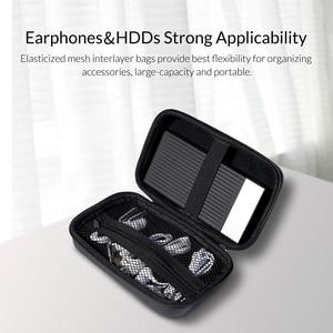 Image 4 - Защитный чехол ORICO для внешнего аккумулятора HDD SSD, встроенный внутренний сетчатый слой для кабеля USB, аксессуары для наушников