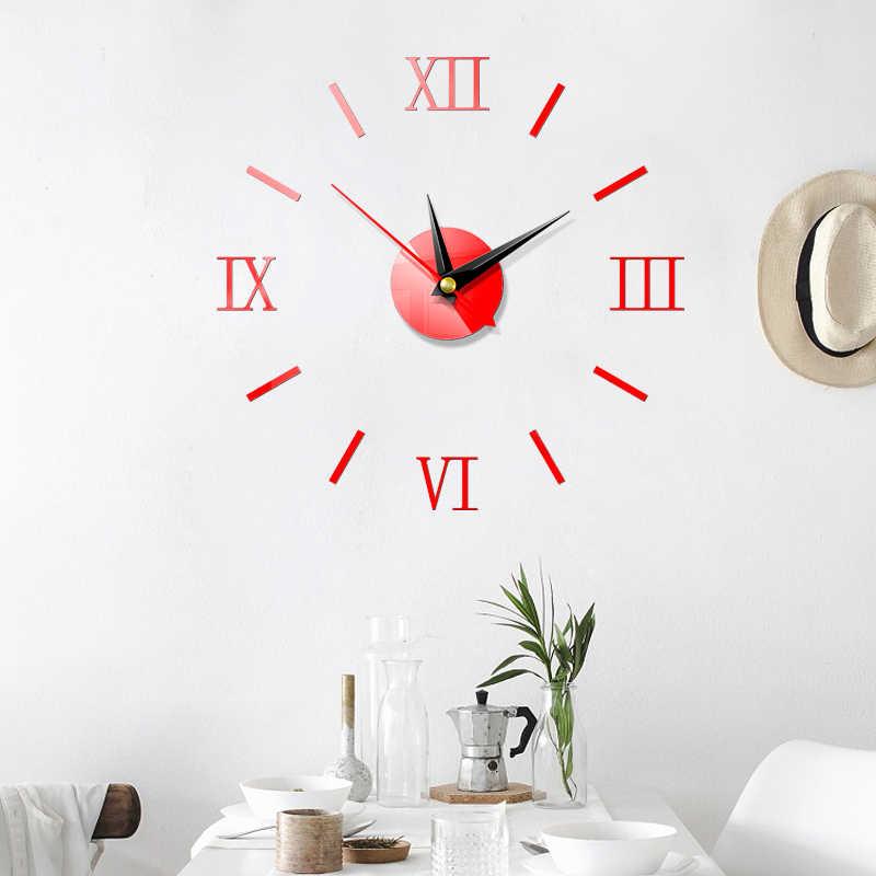 ثلاثية الأبعاد كبيرة الحديثة جيسين ساعات الحائط مرآة ملصق ملصقات كبيرة ديكور المنزل ديكور DIY بها بنفسك غرفة المعيشة غرفة نوم موضة جديدة ساخنة