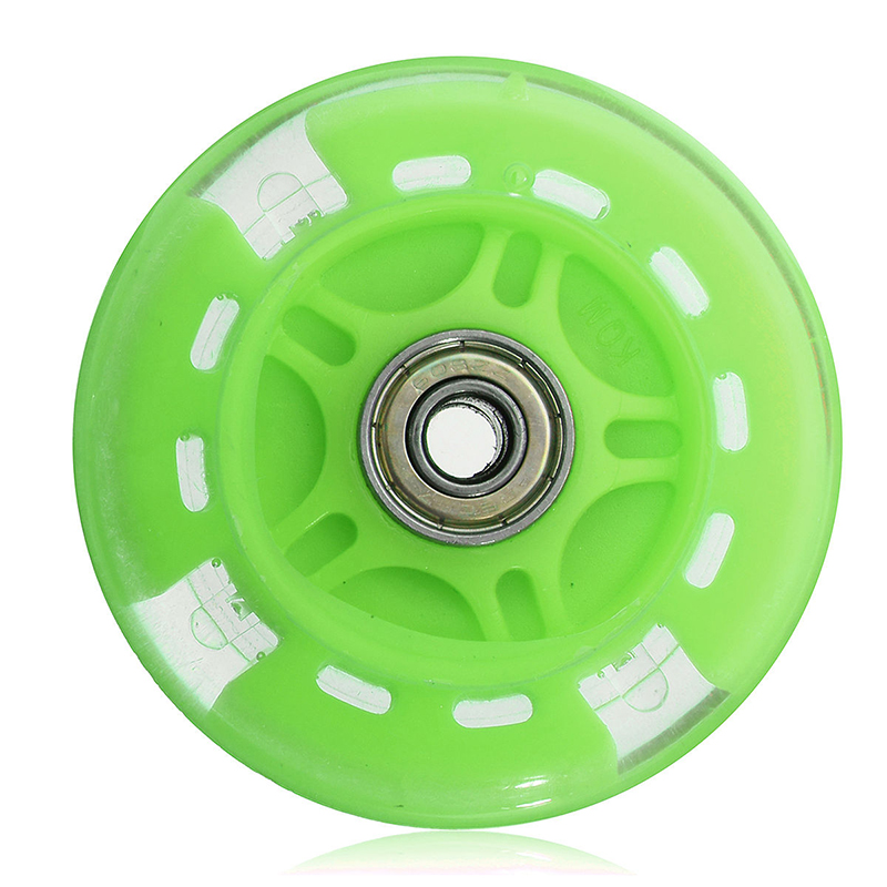 80mm LED Flash Light Up Wheel For Mini Micro Scooter With 2 ABED-7 Bearings Kid