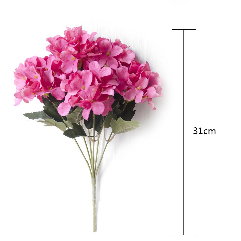 Single European Style Artificial Flower Bouquet 6 branch Scottish Hydrangea Fake Simulative Pot Plant Home Decoration in Artificial Dried Flowers from Home Garden