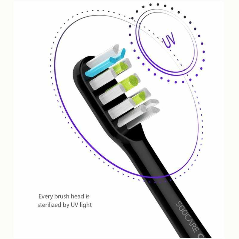 Soocas X3 USB de carregamento sem fio xiaomi soocare sonic escova de Dentes Elétrica escova de dentes 4 APP modo adulto ultra sonic escova de dentes limpa