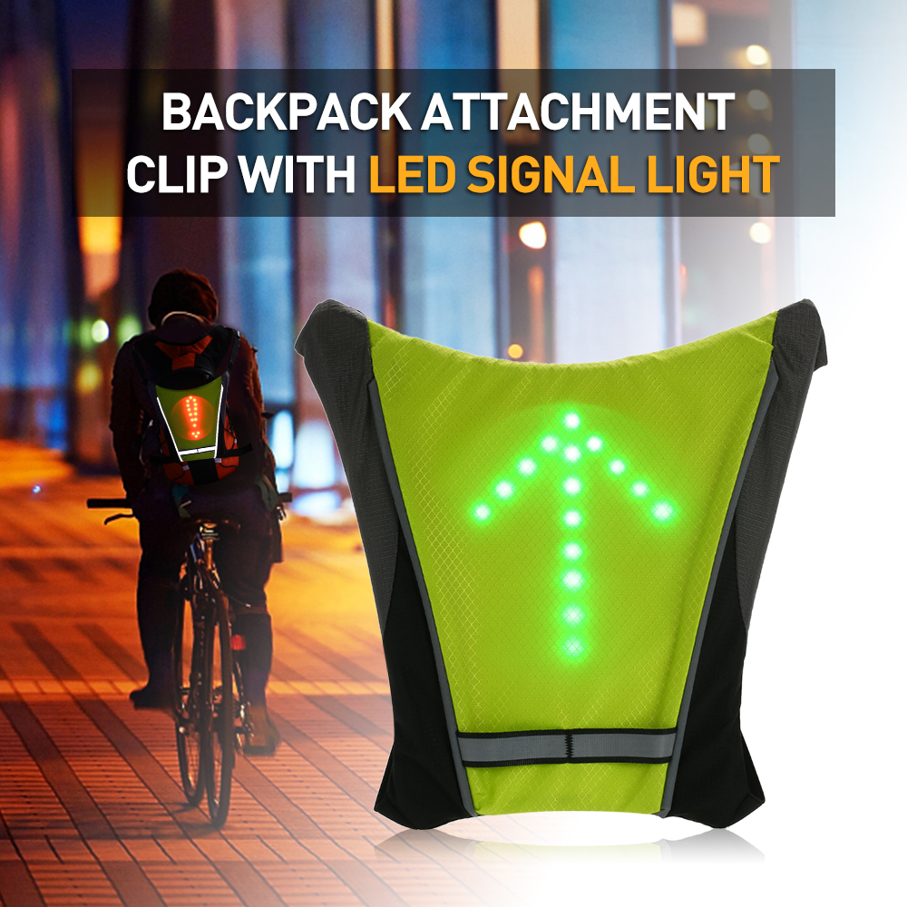 Bicycle Bags & Panniers Audacious Usb Rechargeable Reflective Vest Backpack With Led Turn Signal Light Remote Control Outdoor Sport Safety Bag Gear Cycling