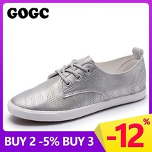Купить с кэшбэком GOGC 2019 Style Women Shoes with Hole Breathable Women Flat Shoes Women Sneakers Casual Shoes Summer Autunm Lace-Up footwear 939