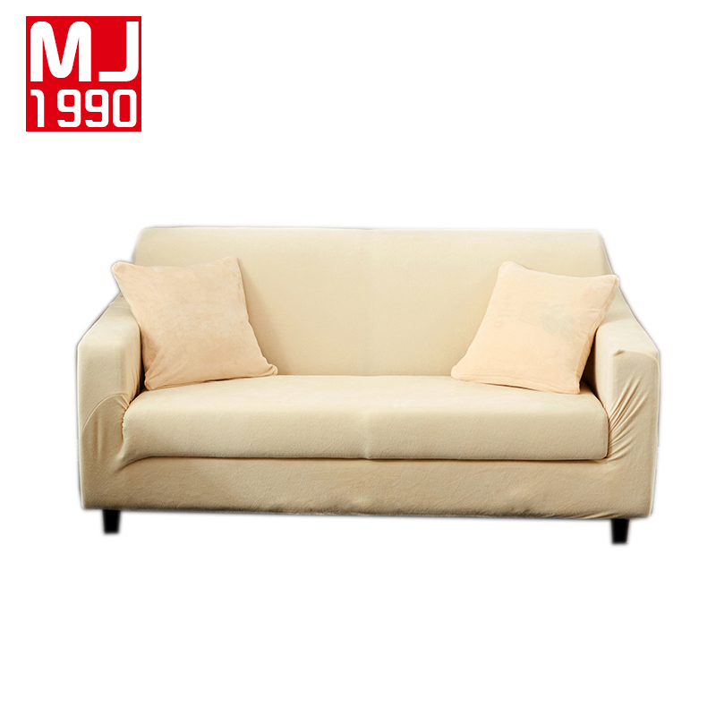 Furniture Cool Cheap Sectional For Elegant Living Room: Elegant Modern Sofa Cover Thick Plush 1/2/3/4 Seater Couch
