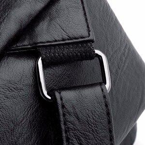 Image 5 - 2019 kobiet plecaki skórzane wysokiej jakości Sac Dos Femme panie plecak luksusowa projektanta plecak marki co dzień plecak na co dzień plecak