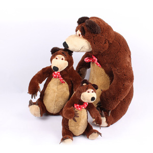Image 3 - Russian Musical Masha Doll* Bear Plush Stuffed Toys and the Brand Educational For Boys Girls Birthday Christmas New Year Gift