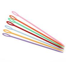 10 шт. пластиковый крючок для вязания крючком, спицы для детей, Обучающие вышивки крестиком, швейные иглы, аксессуары для вязания, разные цвета
