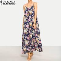 f7a2e410174b92 ... Jurk Lange Maxi Vestidos. US  20.69 US  10.35. 2019 Plus Size ZANZEA  Summer Fashion Beach Party Sundress Women Sexy Sleeveless Floral Printed  Dress Long