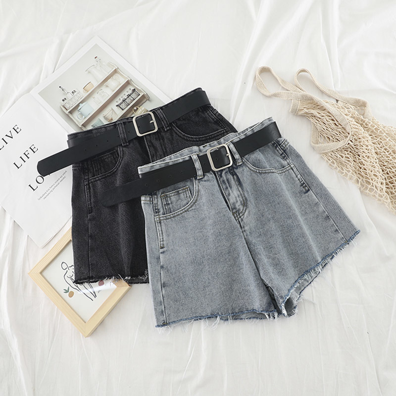 High Waist Hot Denim Shorts 2020 Summer Ripped Tassel Shorts Korean Streetwear Sexy Short Jeans Cowboy Style